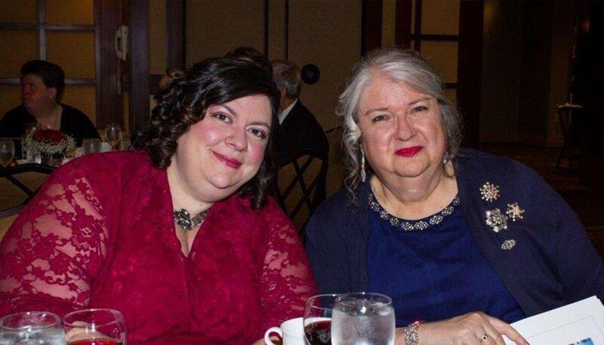 Gail at Odd Fellows dinner