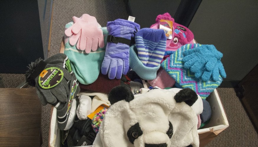 Hats & Mittens collected for drive