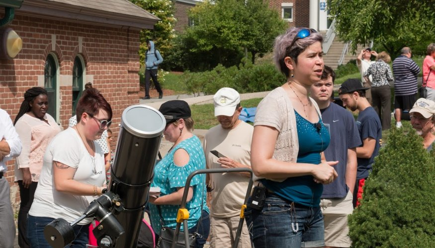 Andria Schwortz, QCC Professor of Integrated Sciences, shares her knowledge of the solar eclipse.