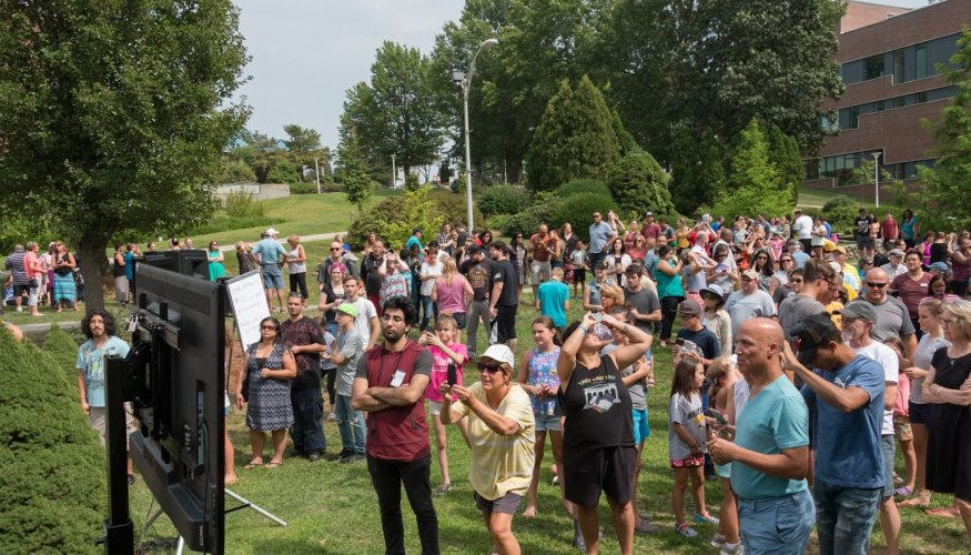 QCC offered a variety of ways for attendees to view the partial solar eclipse.