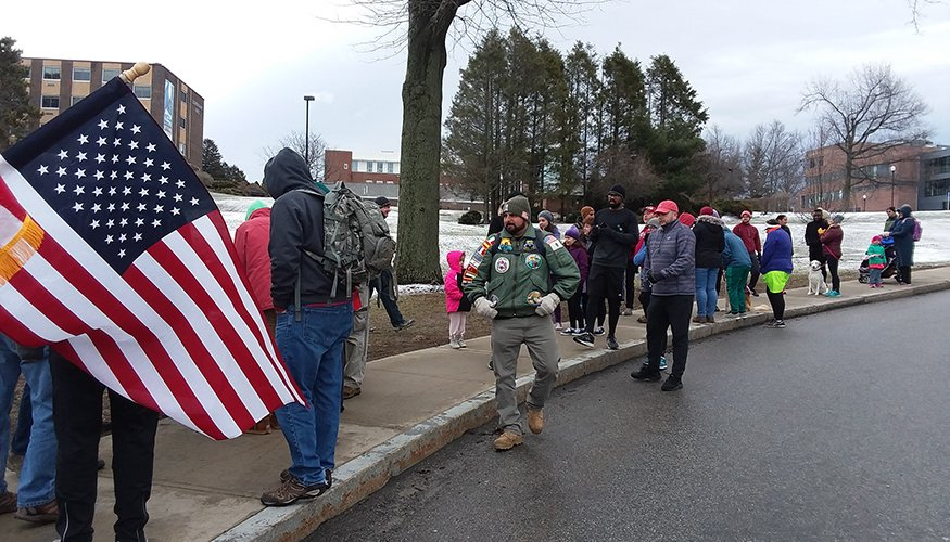 QCC veterans took part in the Ruck/Walk held on QCC's campus.