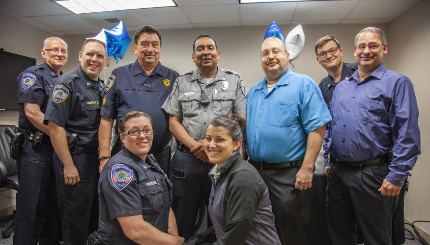 "QCC Campus Police bid a fond farewell to Sergeant Dennis ""Denny"" Blair."