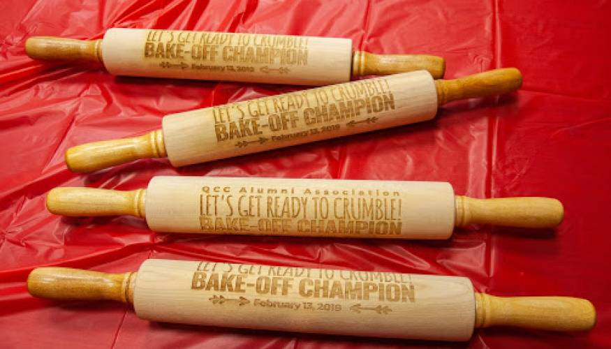 Bake-Off winners received a coveted Bake-Off Champion rolling pin.