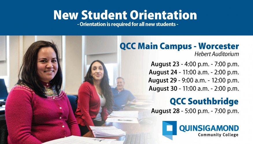 New Student Orientation postcard