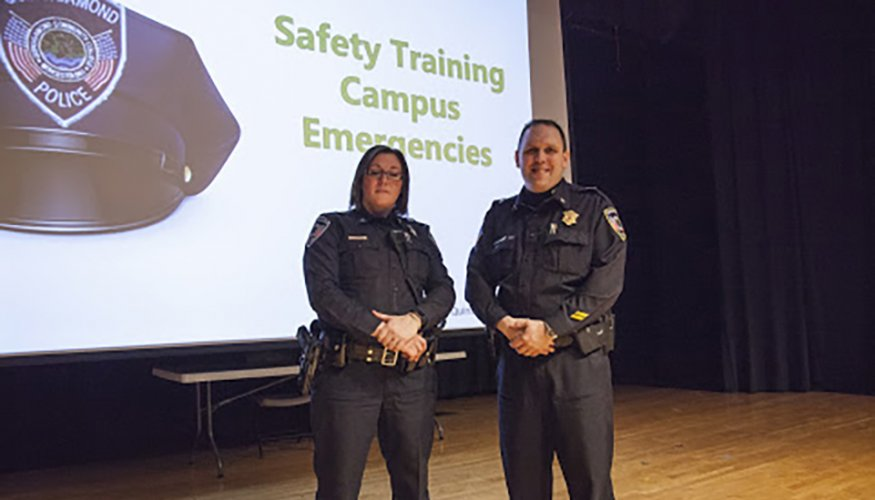 QCC's Community Outreach Officer, Catherine Dixon and Deputy Chief of Operations Stephen DiGiovanni