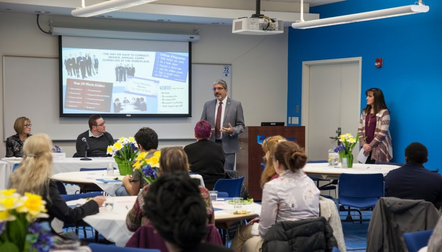 QCC students learned what potential employers are looking for in a job applicant.