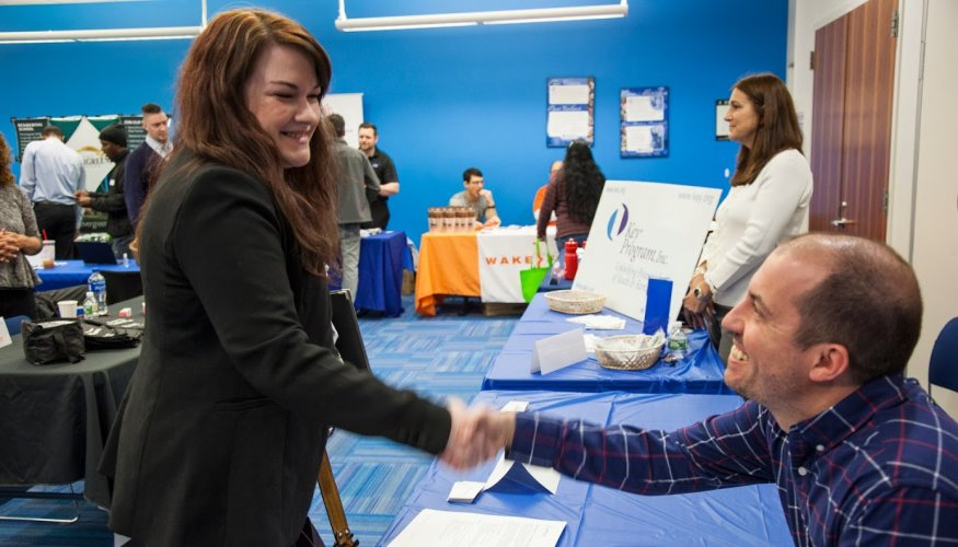QCC students made positive impressions to potential employers at the recent Job Fair.