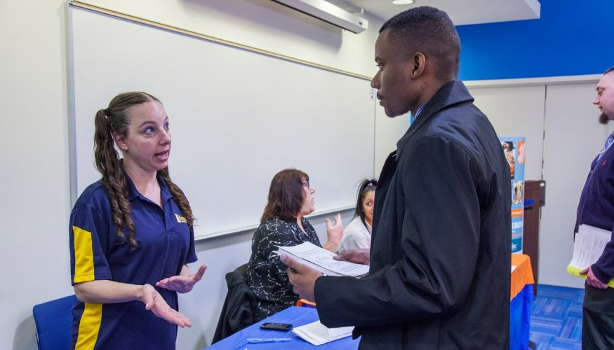 QCC students made valuable contacts with local companies.