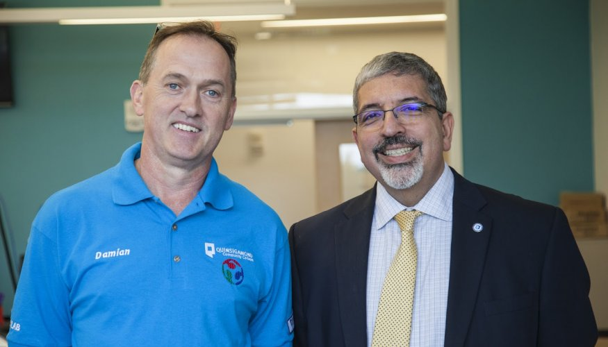 Associate Professor of Manufacturing Technology,Damian Kieran (left) and President Dr. Luis Pedraja.