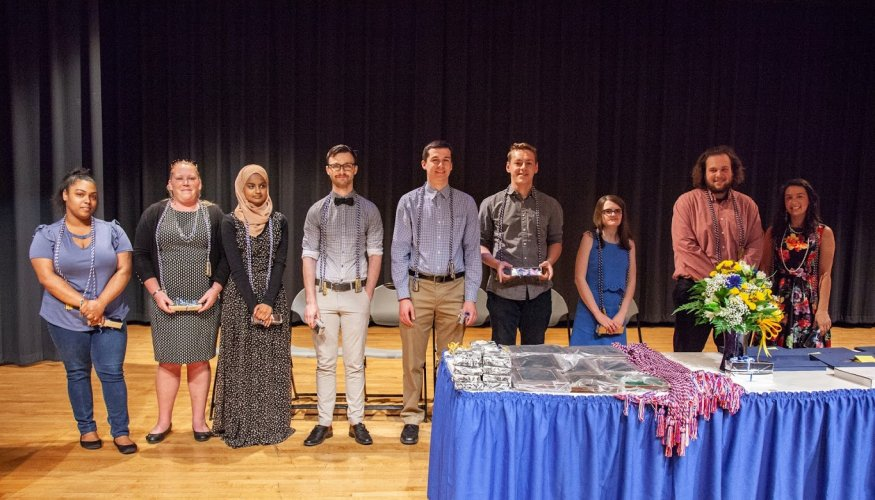 Graduates at the 2018 Honors and Awards Ceremony.