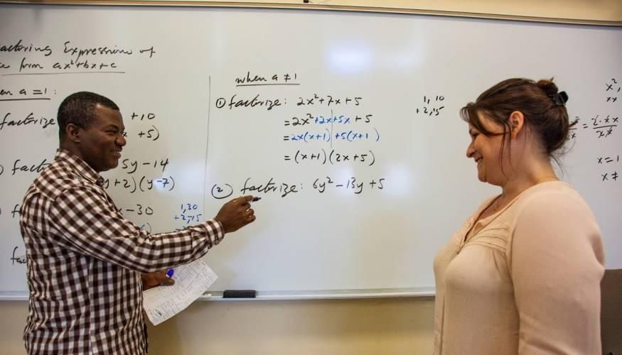 Professor Sheiba Mas-Oud explains math concepts