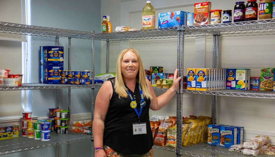 PTK student Ashley Forhan is the new food pantry manager