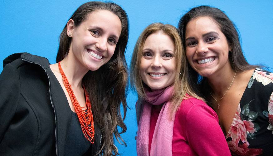 From left:Sheila del Bosque, Dr. Viviana Abreu-Hernández and Gilmarie Vongphakdy