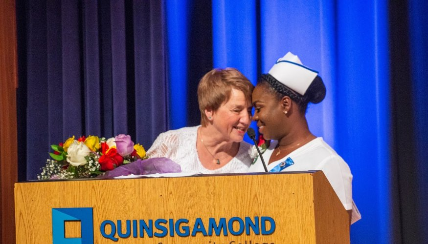 Nursing faculty and students enjoyed special moments at the pinning ceremony.