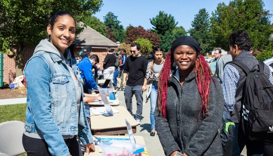 Students came out in force for QCC's two-day Club Fair.
