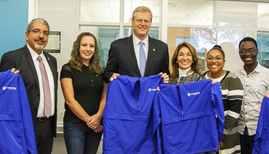 Governor Baker visits QCC to discuss MassGrant Plus
