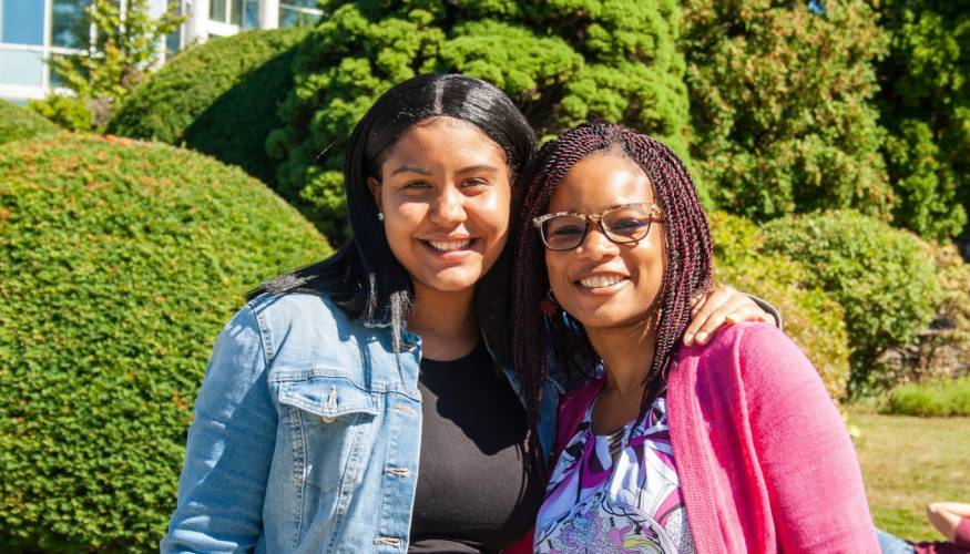 From left: QCC student Zuheyry Encarnacion with her mentor Dr. Natalie Anumba.