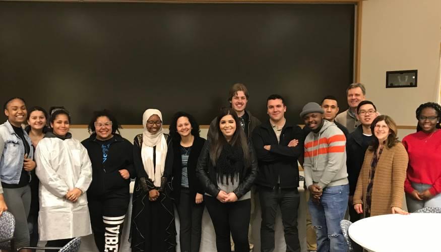 QCC students visit AbbVie
