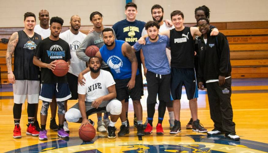 On Feb. 2 former QCC men's basketball players got together for an alumni game.