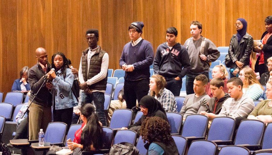 Students at Edwidge Danticat presentation