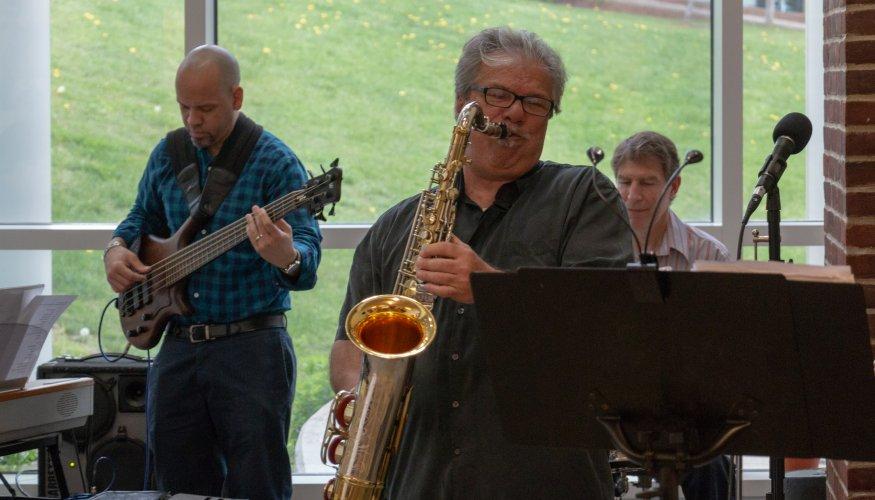 QCC Jazz Ensemble entertains at the QCC Retirement Recognition Reception.