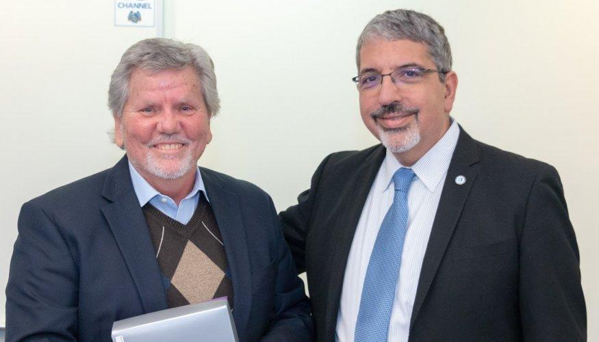 Don Hall and Dr. Luis Pedraja