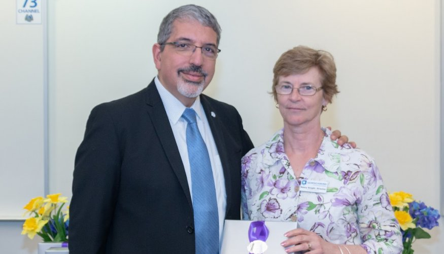 Dr. Luis Pedraja and Nancy Knight