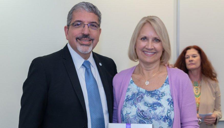 Dr. Luis Pedraja and Linda LeFave