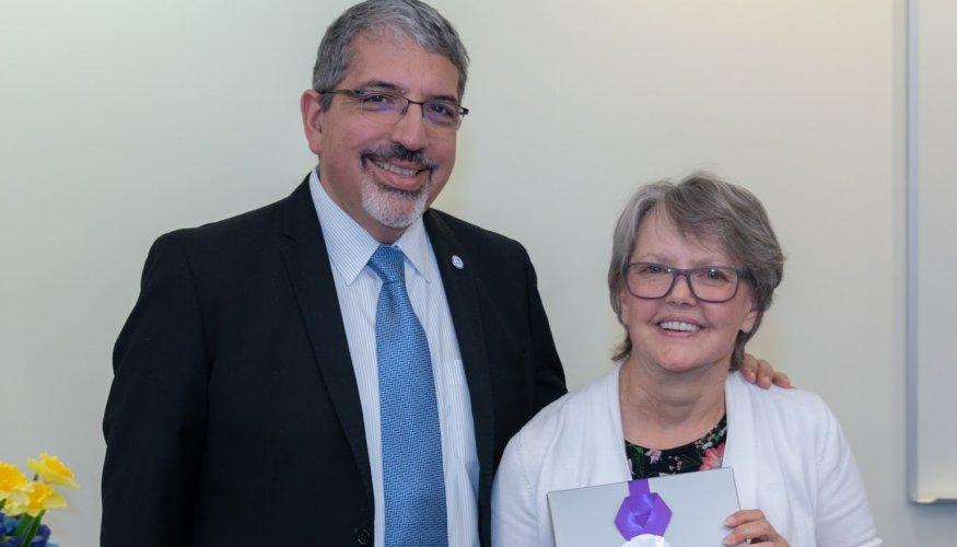 Dr. Luis Pedraja and Carol Murphy