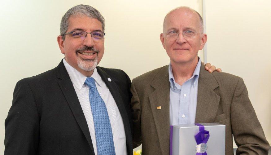 Dr. Luis Pedraja and Bill Daring