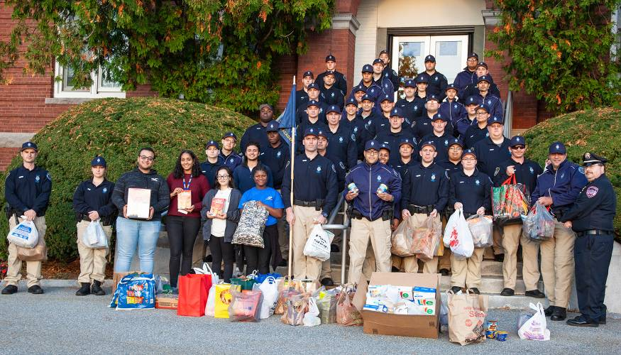 Police Academy Food Pantry Donation