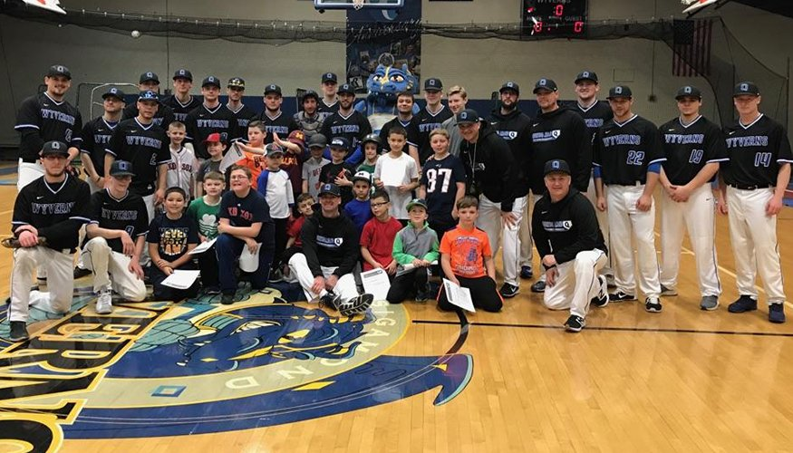 The Wyvern Baseball team hosted a successful youth baseball clinic in March.