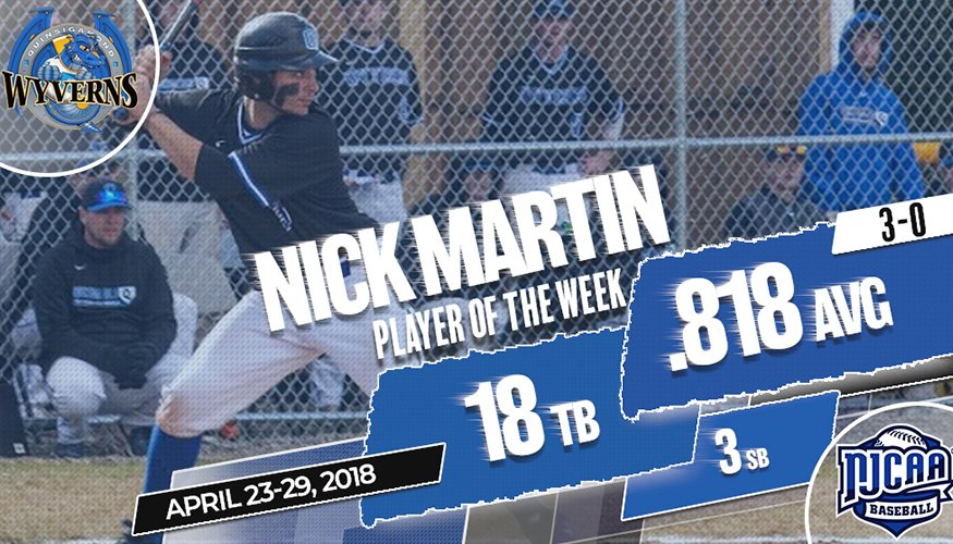 QCC's Nick Martin is Player of the Week.