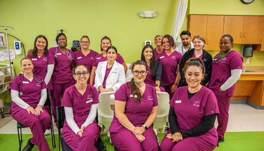 QCC welcomes its first class of former Becker nursing students.