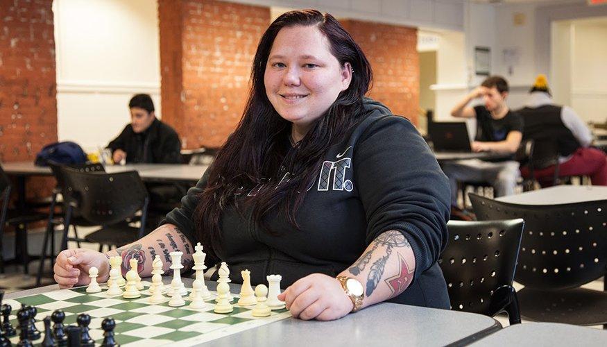 Chess Club President Nadia Ackerman.