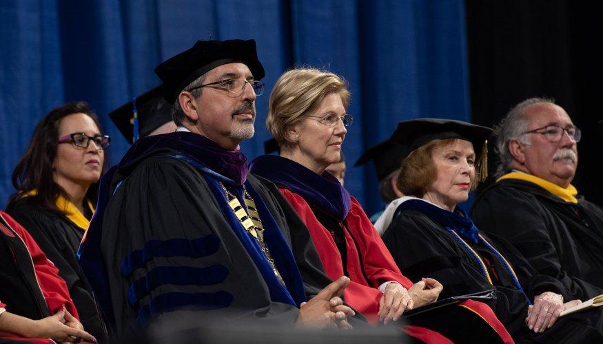Dr. Pedraja and Senator Warren