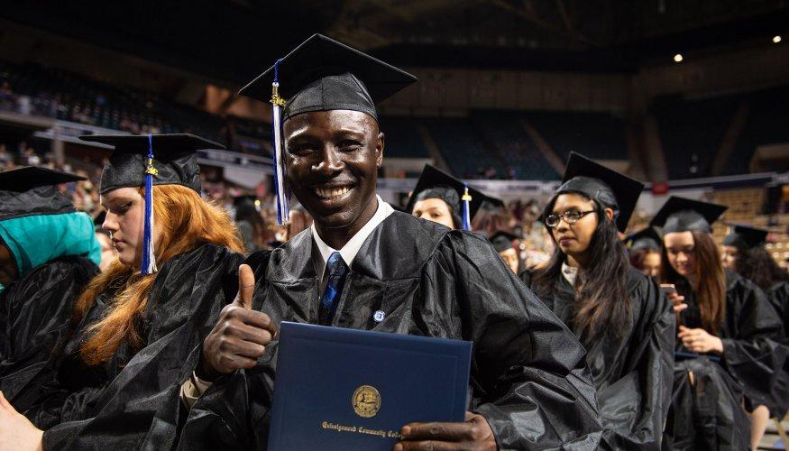 QCC graduate Benjamin Aryeh