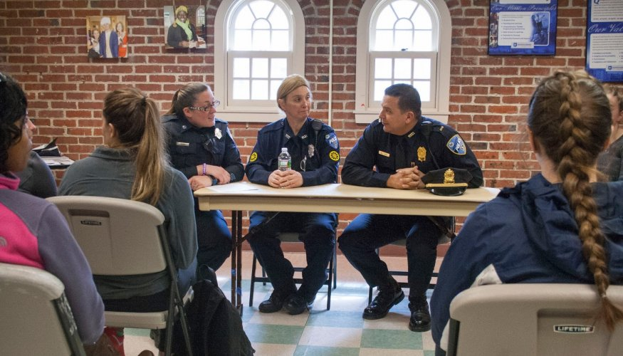 Campus Police and QCC students discuss relevant issues.