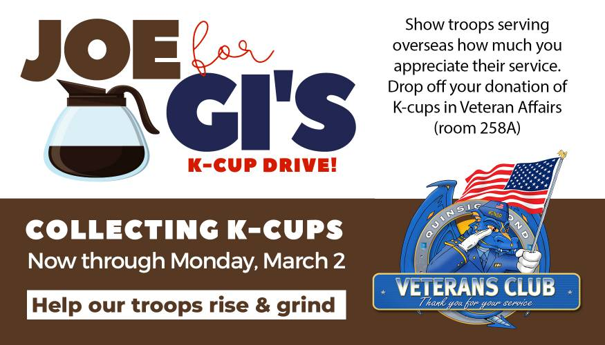 Veterans Club Holds K-Cup Drive for Overseas Troops