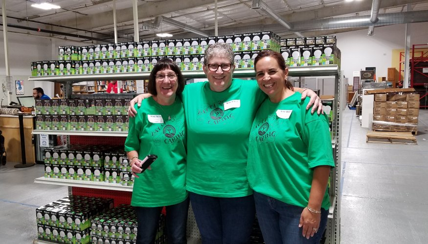 From left: Donna Harvey, Lucinda Costa and Selena Boria at the ReStore.