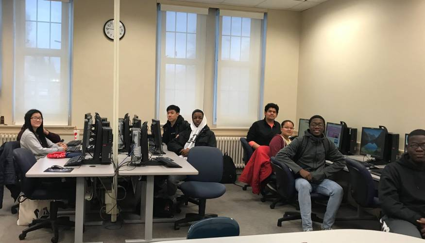 Worcester Public School Early College students took an 'Introduction to Information Technologies' last fall at QCC.