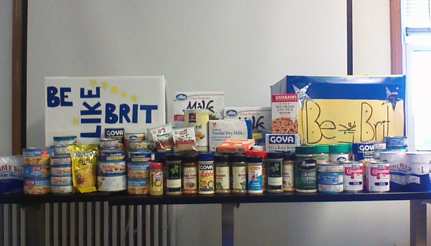 collected food items