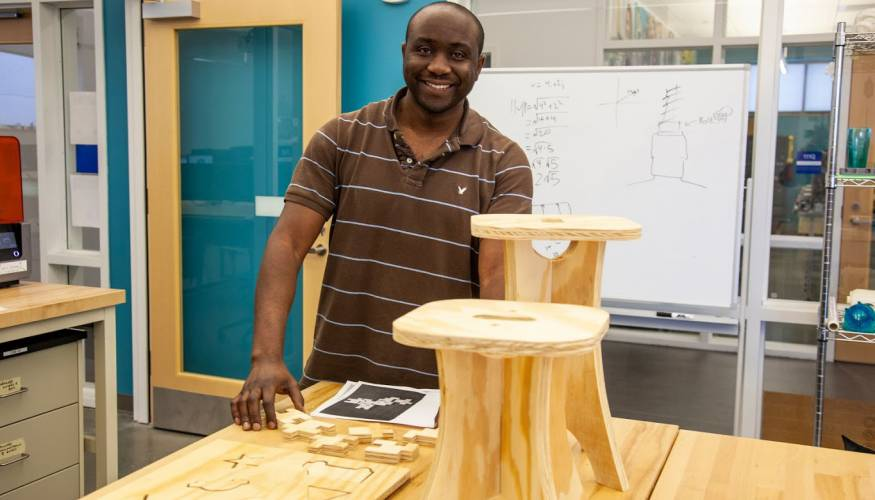 QCC student Edmond Isemwami