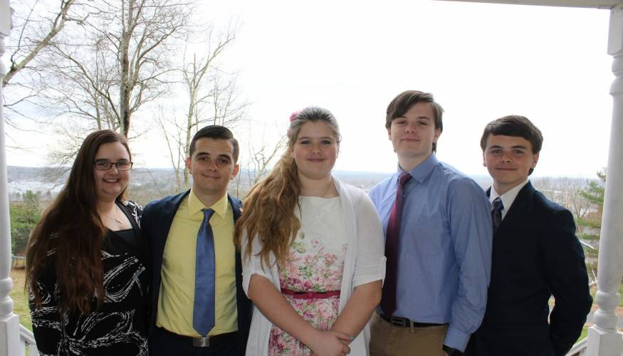From left: Laurinda, Thomas, Elena, Joseph and James Ralph.