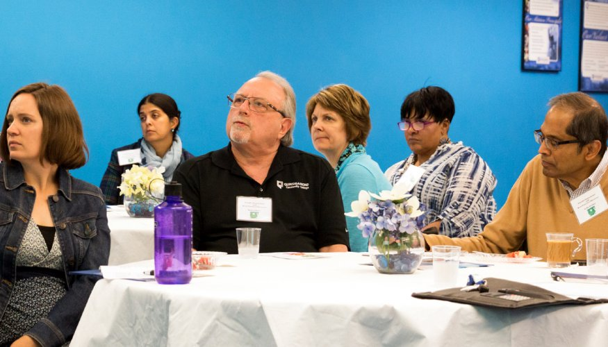 Faculty Innovations and Best Practices Showcase attendees
