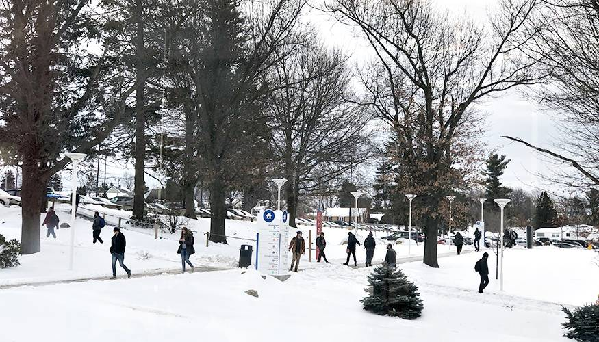 Students begin the Spring 2019 semester