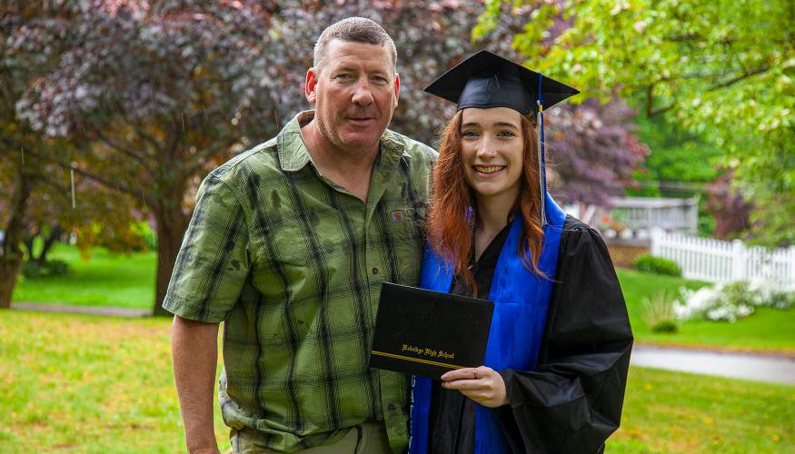Gateway graduate Brenna King shares her special moment with her dad.