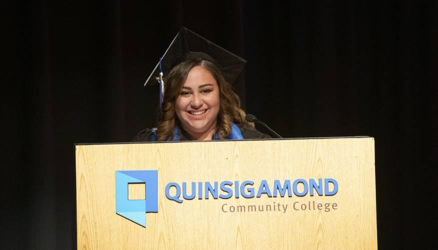Student speaker Gelianni Torres