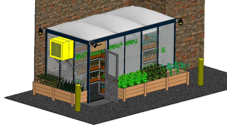 PTK Live & Learn Greenhouse rendering