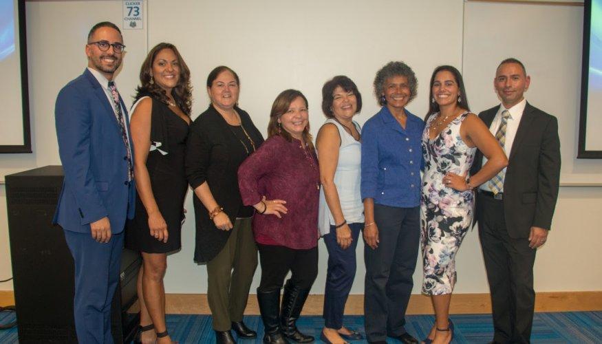 From left: Eric Batista, Deborah Gonzalez, Hilda Ramirez, Iris Delgado, lga Lopez-hill, Maria Addison, Gilmarie Vongphakdy and M